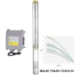 Насос глубинный MALEC 75QJD1-72/20-0,55 (тонкий)