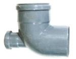 Уголок канализационный с добавочным доступом ø110/50/90/90°