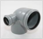 Уголок канализационный с добавочным доступом ø110/50/90° правый