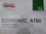 Радиатор алюминиевый STANDARD HIDRAVLIKA ECONOMIC A100