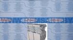 Радиатор алюминиевый NOVA FLORIDA SERIR SUPER 350/100 (mini)